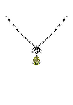 Gemondo Sterling Silver 0.30ct Peridot & Marcasite August 45cm Necklace