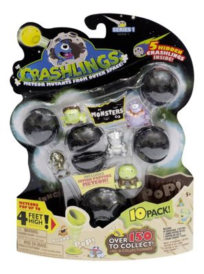Crashlings Meteor Mutants From Outer Space! Series 1 10 Pack Monsters