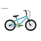 "Bumper Stunt Rider 14"" Wheel Pavement Bike Blue/Green Stabilisers"