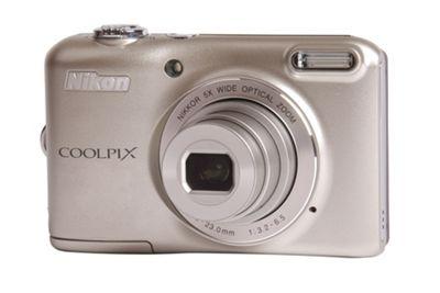 Nikon Coolpix L28 Camera Silver 20.1MP 5xZoom 3.0LCD 720pHD 26mm Wide Lens
