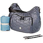 OiOi Hobo Nappy Change Bag - Indigo Fisheye Quilted Cotton (7005)