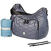 OiOi Hobo Nappy Change Bag - Indigo Fisheye Quilted Cotton (7005)