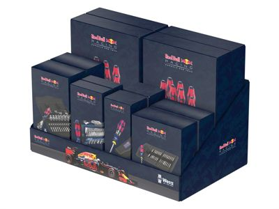 Wera Mixed Red Bull Racing Tool Set Display