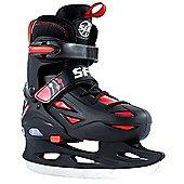 SFR Ice Skates - Eclipse Lights Black/Red - Black