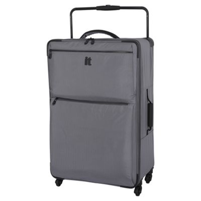 Buy IT Luggage World's Lightest 4 wheel Charcoal Check Large ...