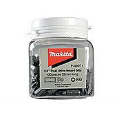 Makita P-49971 Jar of PZ2 25mm Bits (100)