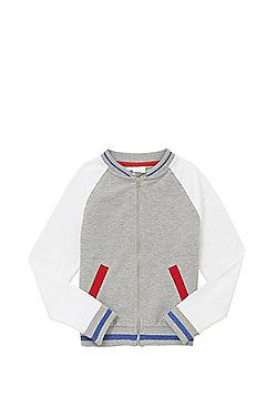 F&F Varsity Baseball Jacket - Grey