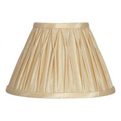 35cm Lamp Shade Gold Polysilk Pinch Pleat Design