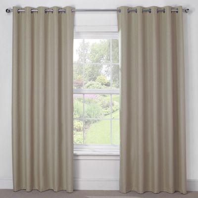 Julian Charles Luna Mocha Blackout Eyelet Curtains - 66x54 Inches (168x137cm)