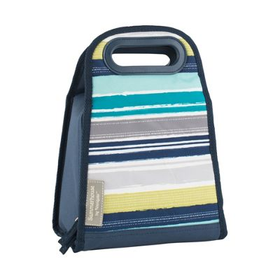 Navigate Atlantic Blue Stripe 2L Insulated Lunch Bag