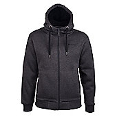 Mountain Warehouse Nevis Mens Fur Lined Hoodie - Blue