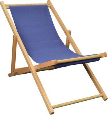 Harbour Housewares Garden Deck Chair - 3 Positions - Blue