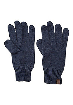 Mountain Warehouse Compass Knitted Mens Gloves - Blue