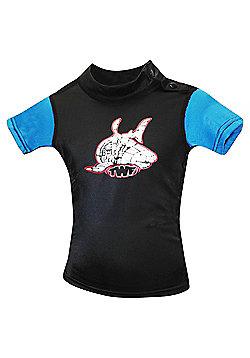 TWF UV Rash Vest Black/Blue age 2-3.