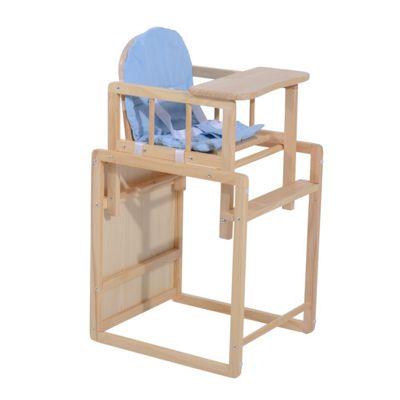 Homcom Baby Feeding Highchair Multi Function Nursery Dinning Chair And Table W Cushion