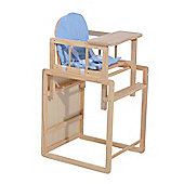 Homcom Baby Feeding Highchair Multi-function Nursery Dinning Chair and Table w/ Cushion (Blue)