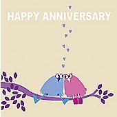 Holy Mackerel Greetings Card- Happy anniversary love swing