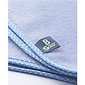 Buggy Snuggle Edged Blanket (Baby Blue)