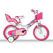 Barbie Bicycle with Training Wheels - Kids Bikes - 14 Inch - Pink - Dino Bikes