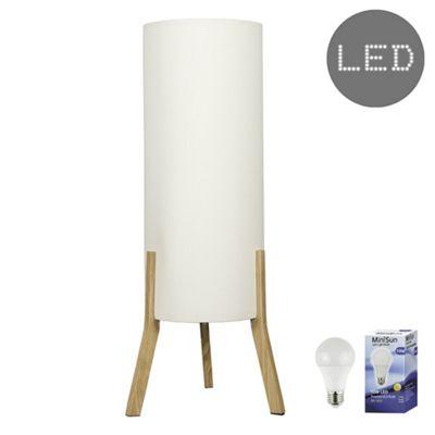 Levi Tripod LED Floor Lamp - Cream