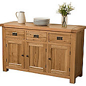 Cottage Solid Oak Large Dresser Dining Room / Kitchen Furniture