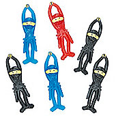 Party Bag Stretchy Flying Ninjas (Pack of 6)