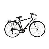 Aurai Trekker Unisex Heritage Bike 700c Wheel 18 Speed Black Blue