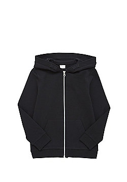 F&F Black Zip-Through Hoodie - Black