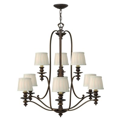 Royal Bronze 9lt Chandelier - 9 x 60W E14