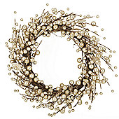 Gold Glitter Berry Christmas Wreath
