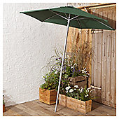 Tesco Parasol In Mesh Bag, Green, 1.8m