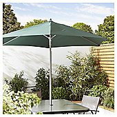 Tesco Tilting Garden Parasol in Mesh Bag, Green, 1.8m