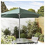 Tesco Tilting Garden Parasol in Mesh Bag, Green, 1.8m