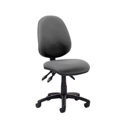 Luna III Lever Task Operator Chair Charcoal Without Arms