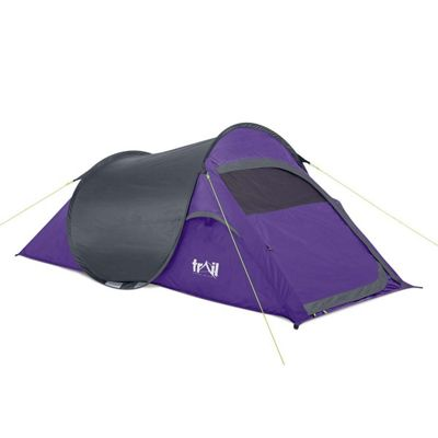 Trail SS 2-Man Waterproof Pop-Up Tent - Purple & Pop Up Tents | Sports u0026 Leisure - Tesco