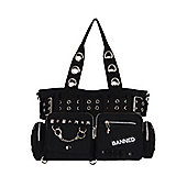 Banned Handcuff Black Shoulder Bag