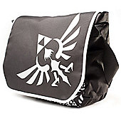 Zelda Polyester Messenger Bag With Embroider Link Logo, Black/white (mb00gtntn) - Accessories
