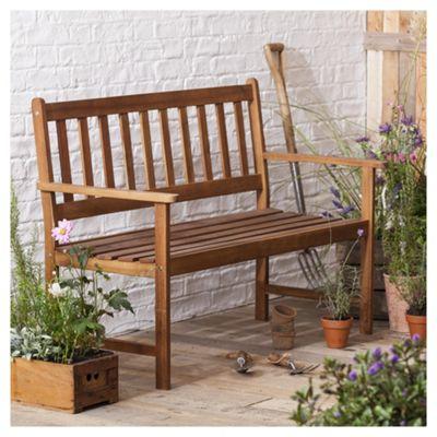 Windsor Wooden Garden Bench, 2 seater, 1.2m
