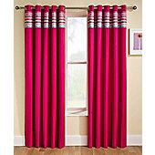 Enhanced Living Siesta Pink Eyelet Curtains - 46x72 Inches (117x183cm)