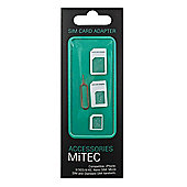 MiTEC SIM Card Adapter (Micro & Nano to Full, Nano to Micro & Pin)
