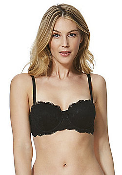 F&F Signature Rae Lace Balcony Bra - Black