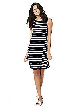 Vila Striped Shift Dress - Navy