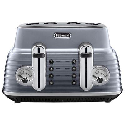 DeLonghi CTZ4003.GY Scultura 4 Slice Retro Classic Toaster - Grey