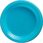 Turquoise Serving Plates - 26cm Plastic - 50 Pack