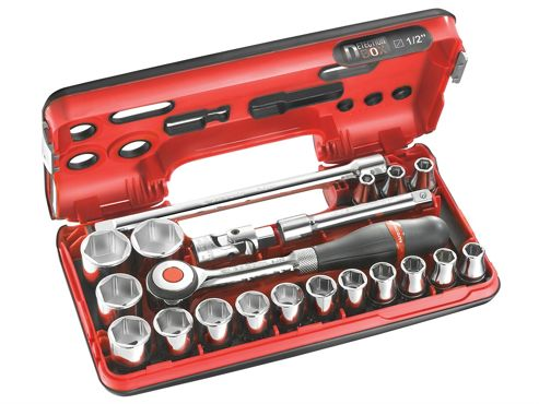 Facom Metric Socket Set of 18 1/2in Drive