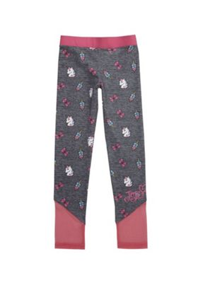Nickelodeon JoJo Siwa Mesh Insert Unicorn Print Leggings Grey/Pink 11-12 years