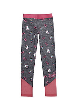 Nickelodeon JoJo Siwa Mesh Insert Unicorn Print Leggings - Grey & Pink