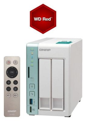 QNAP TS-251A-4G/8TB-RED 2-Bay 8TB(2x4TB WD Red) Dual-core NAS