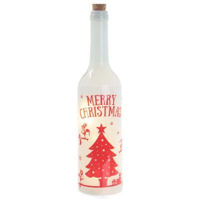 Puckator Christmas Elf Decorative LED Bottle, White