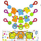 First Steps Pram Rattle Tic Toc Clocks from 6 mths+